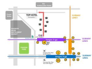 Top Hotel & Residence Insadong, Апарт-отели  Сеул - big - 16