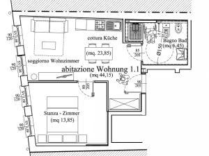 Appartamento Standard Ampio con 1 Camera da Letto