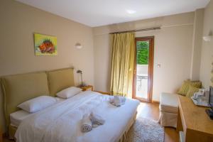 Δίκλινο Δωμάτιο με 1 Διπλό ή 2 Μονά Κρεβάτια και θέα στο Βουνό