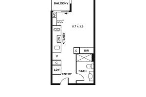 Melbourne CBD Studio, Апарт-отели  Мельбурн - big - 6