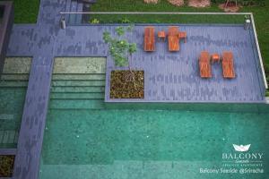 Balcony Seaside Sriracha Hotel..
