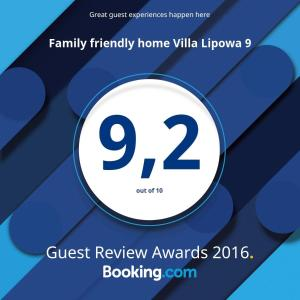 Family friendly home Villa Lipowa 9