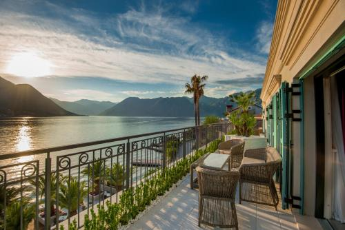 The beautiful Hotel Forza Terra is one of the best places to stay in Kotor, offering stunning views over the bay.