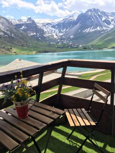 Grand studio vue sur lac Tignes Le Lac