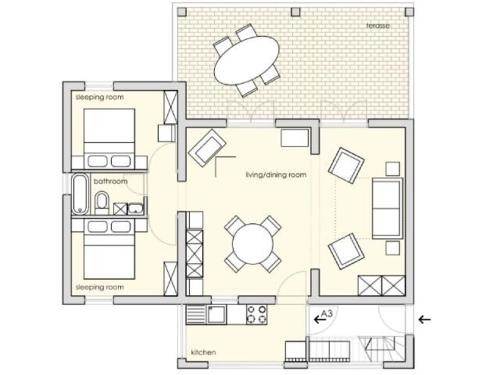 Apartament 2 Habitacions (Two-Bedroom Apartment)