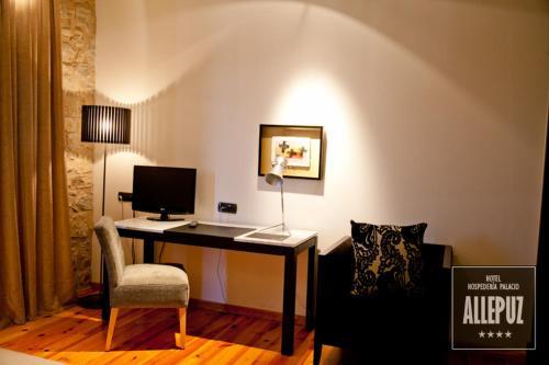 Doppel- oder Zweibettzimmer Hospedería Palacio de Allepuz 6