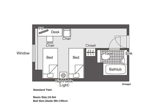 Standard Twin Room - Smoking (2 Beds)