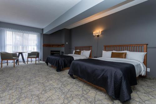 Room with Two Queen Beds and Fireplace - Pet-Friendly