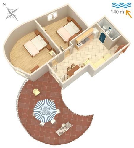 Apartment Jezera 5120c Photo 8