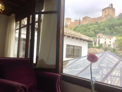 Doppel- oder Zweibettzimmer mit Blick auf die Alhambra Palacio de Santa Inés 8