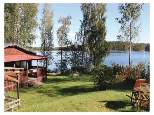 Holiday Home SF-52700 Halmeniemi with Fireplace 06