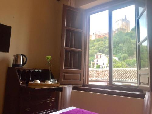 Doppel- oder Zweibettzimmer mit Blick auf die Alhambra Palacio de Santa Inés 7