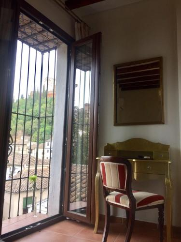 Doppel- oder Zweibettzimmer mit Blick auf die Alhambra Palacio de Santa Inés 4