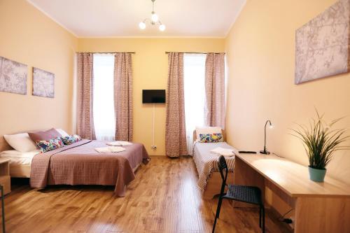 МК Отель Краски Семейный номер с общей ванной комнатой