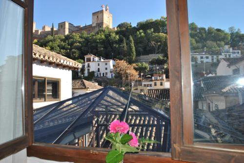 Doppel- oder Zweibettzimmer mit Blick auf die Alhambra Palacio de Santa Inés 3