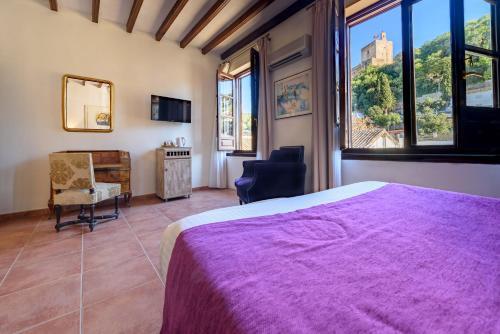 Doppel- oder Zweibettzimmer mit Blick auf die Alhambra Palacio de Santa Inés 2