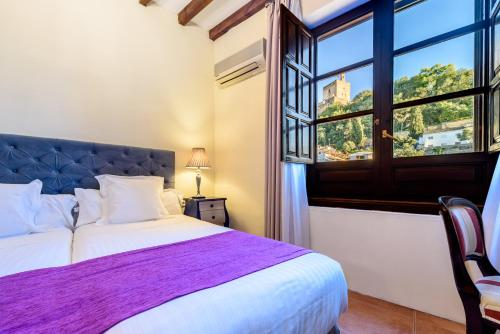 Doppel- oder Zweibettzimmer mit Blick auf die Alhambra Palacio de Santa Inés 1