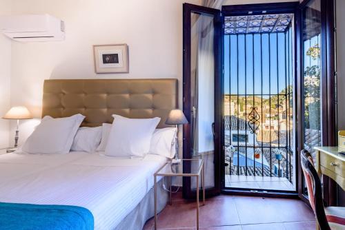 Doppel- oder Zweibettzimmer mit Blick auf die Alhambra Palacio de Santa Inés 18