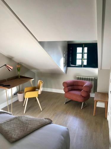 Habitación Doble Estándar con cama grande Pazo de Mendoza 1