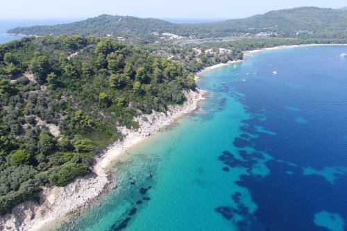 Koukounaries Bay, Skiathos, Greece.