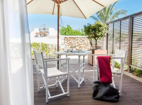 Doppel-/Zweibettzimmer mit eigener Terrasse Sant Joan de Binissaida 4