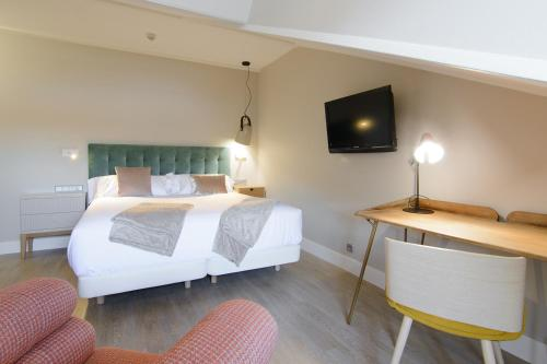 Habitación Doble Estándar con cama grande Pazo de Mendoza 7