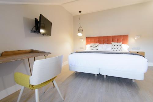 Habitación Doble Estándar con cama grande Pazo de Mendoza 9
