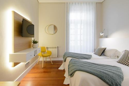 Habitación Doble Estándar - 2 camas  Pazo de Mendoza 4