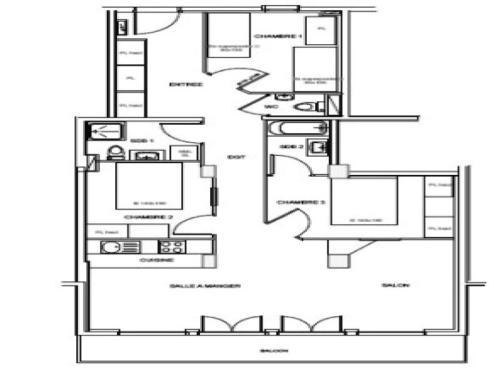Appartement Valmorel, 4 pièces, 8 personnes - FR-1-291-739 Valmorel