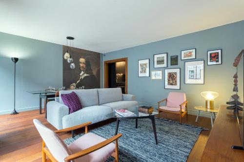 . Stella - 2 chambres-balcon-place république-air conditionné