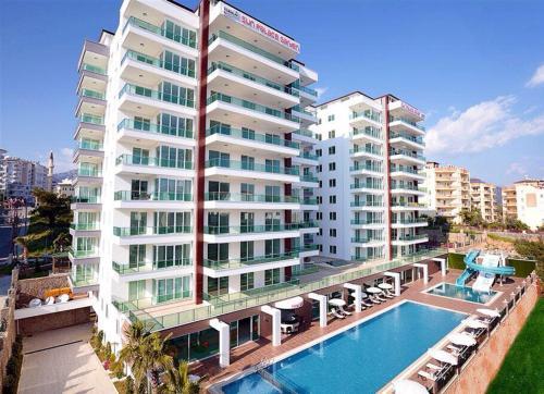 Alanya 1 + 1 apartments with Swimming pools, SPA, Wi Fi.. indirim kuponu