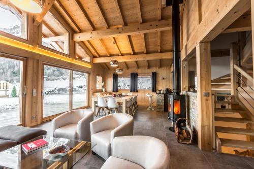 """Chalet 5 étoiles """"Le Gros Pierrier"""" 12 personnes vallée de Chamonix Les Houches"""