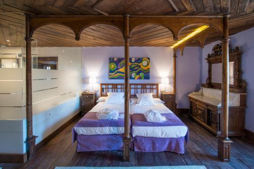 Habitación Doble Deluxe con bañera de hidromasaje - 1 o 2 camas Pazo da Pena Manzaneda 5