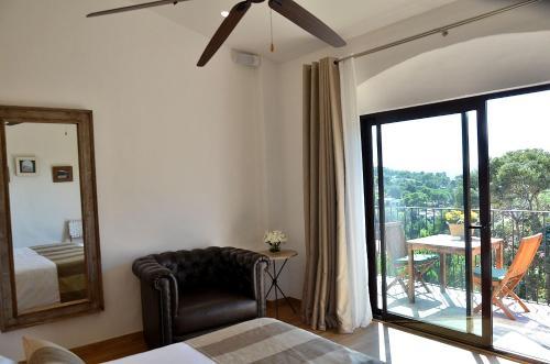 Habitación Doble con vistas a la montaña Hotel Galena Mas Comangau 8