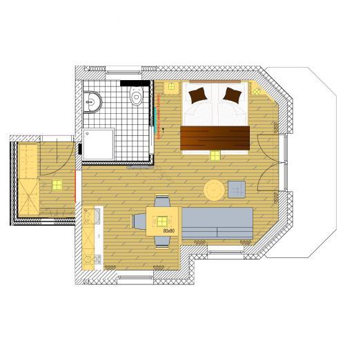 Studio (2-3 Adults)