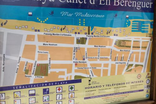 Mapa Canet De Berenguer.Apartamento En Primera Linea De Playa Canet D En Berenguer