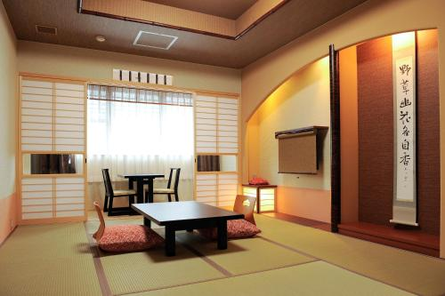 Japanese-Style Family Room with Private Shower and Toilet