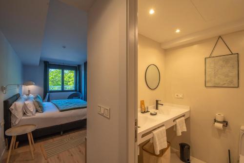 Doppel-/Zweibettzimmer mit Bergblick - Einzelnutzung IXUA hotela 7
