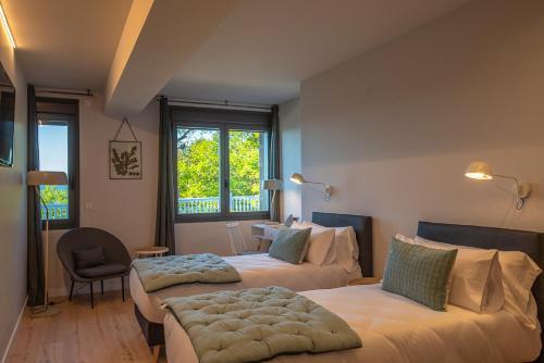 Doppel-/Zweibettzimmer mit Bergblick - Einzelnutzung IXUA hotela 5