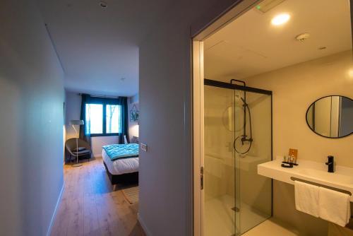 Doppel-/Zweibettzimmer mit Bergblick - Einzelnutzung IXUA hotela 9