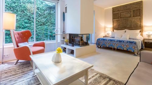 Suite exclusiva con chimenea privada Boutique Hotel Spa Calma Blanca 17