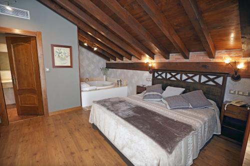 Suite con bañera de hidromasaje Hotel Spa San Marcos 11
