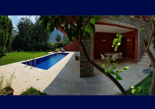 Göcek 1+0 Studio w/Pool, Garden & Gym in Gocek, Fethiye harita