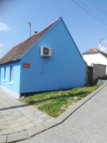 Modré ubytování