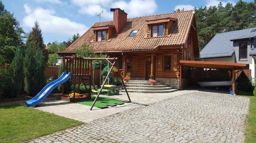 . Mazury Drewniany Dom Malkinie k/Ełku