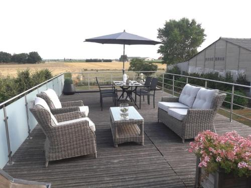 . Modern Apartment in Alveringem with Roof Terrace