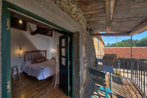Habitación Superior - 1 cama grande - Uso individual Casa Rural Piñeiro, de Vila Sen Vento 6