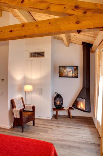 Habitación Doble Deluxe con chimenea - 1 o 2 camas Hotel La Freixera 5