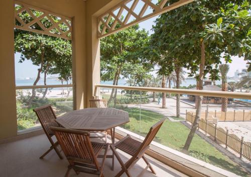In Palm Jumeirah w- private beach access