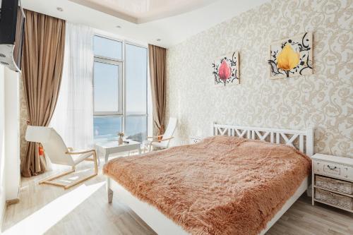 Apartments Arcadia. Panorama of the sea